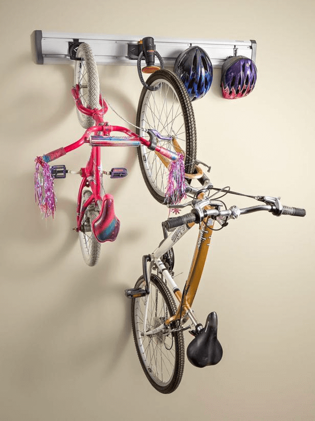 GLADIATOR GearTrack BIKE WALL TRACK SYSTEM GARAGE STORAGE IDEAS