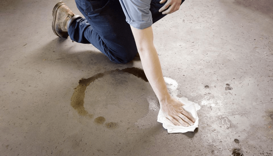HOW TO REMOVE OIL FROM GARAGE FLOOR