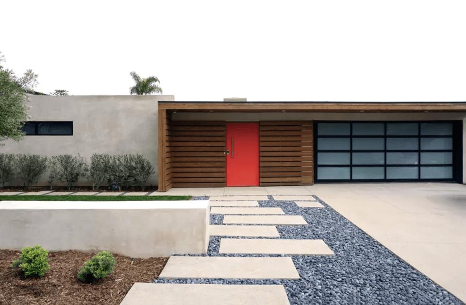 MID CENTURY MODERN GARAGE DOOR DESIGN IDEAS