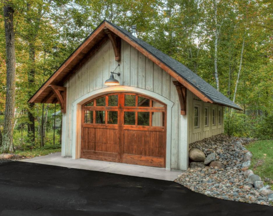 Rustic Lakeside Garage Door Design Ideas