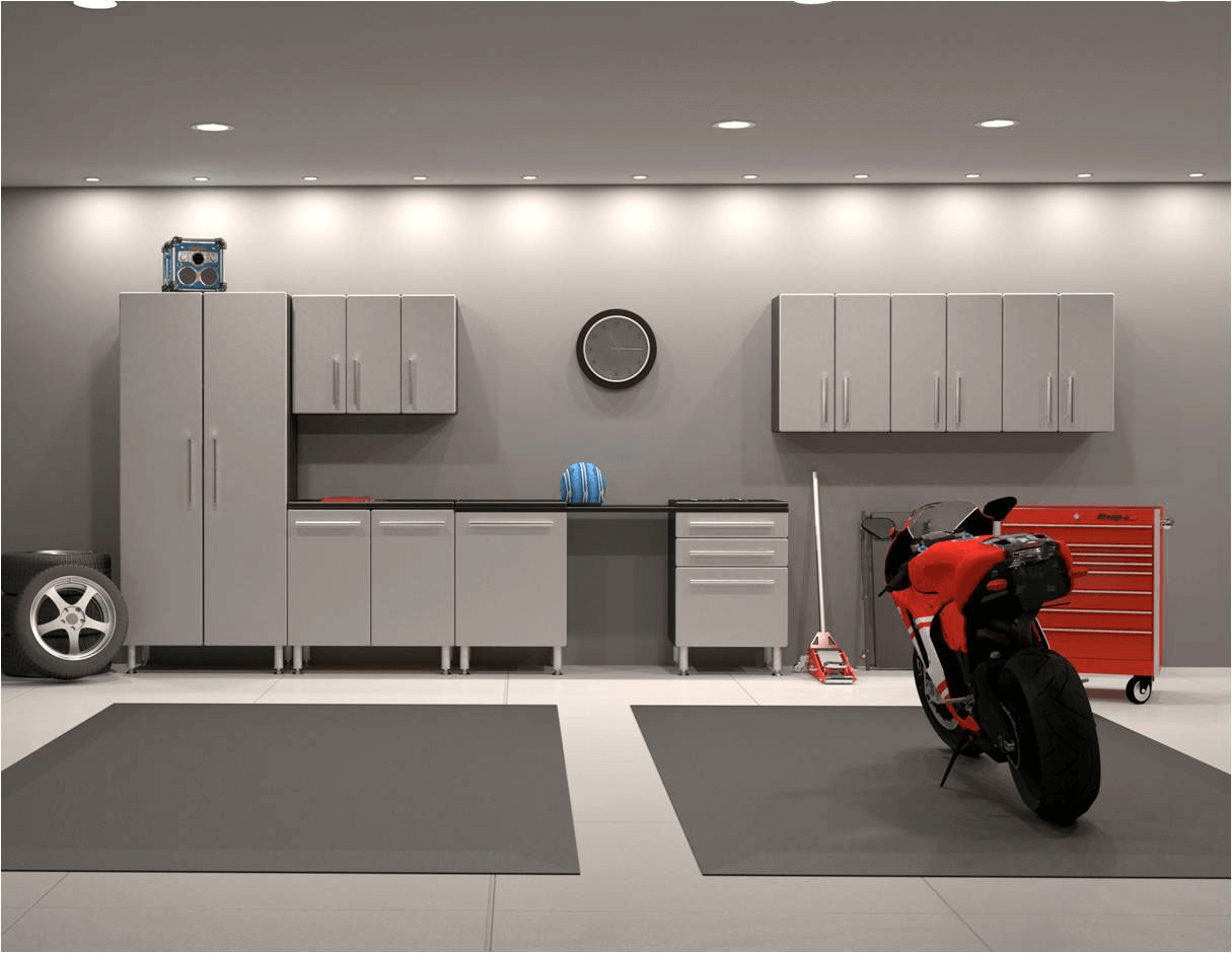 CABINET GARAGE WALL DECOR IDEAS