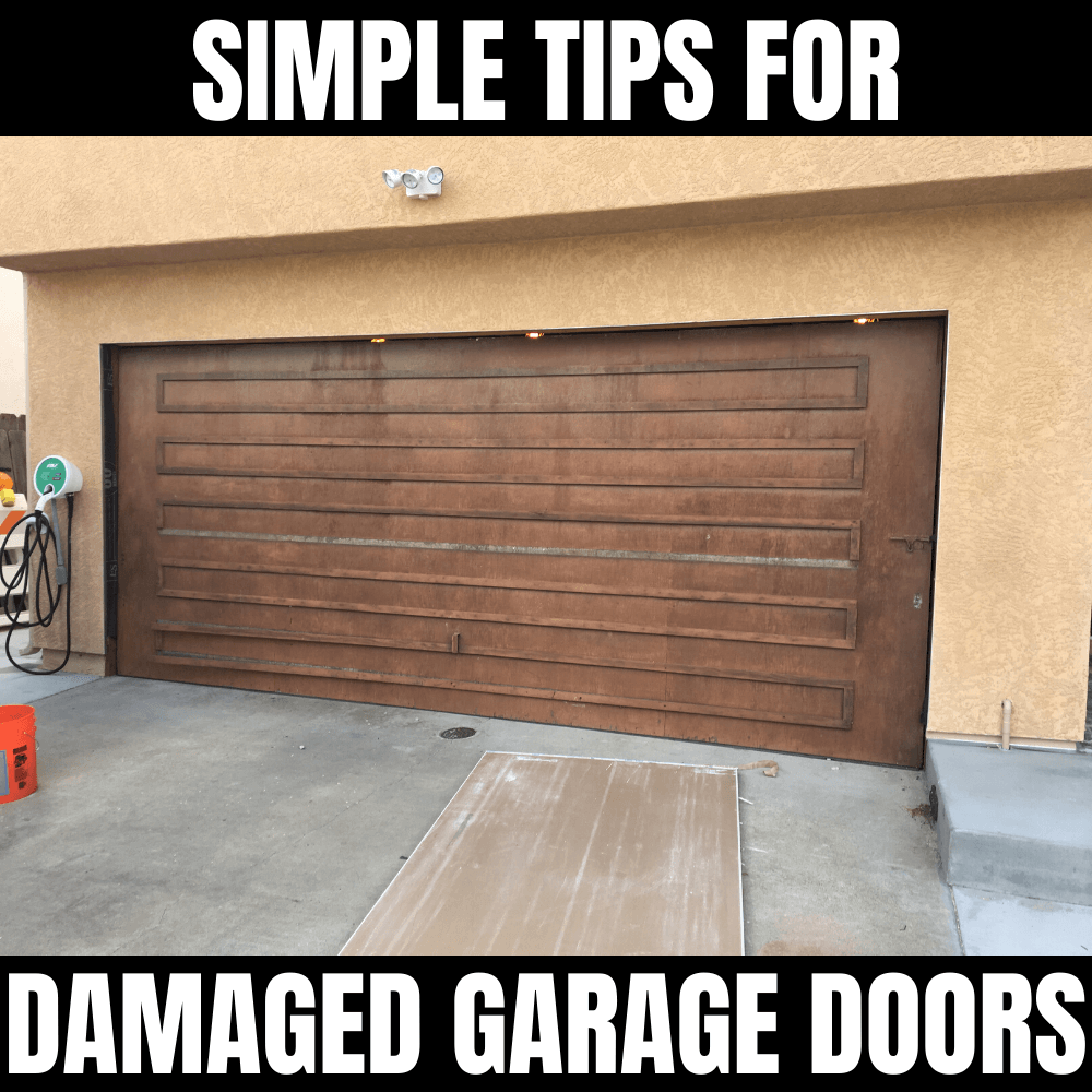 SIMPLE TIPS FOR DAMAGED GARAGE DOORS