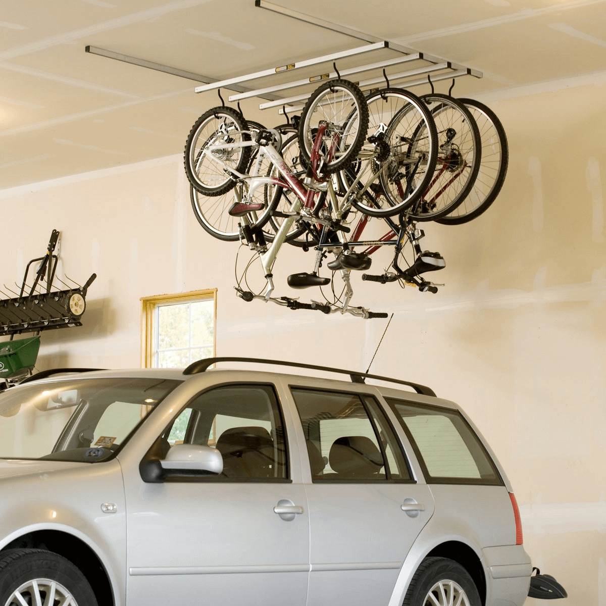 CEILING HOOK STORAGE IDEAS FOR BIKE MAKEOVER IDEAS