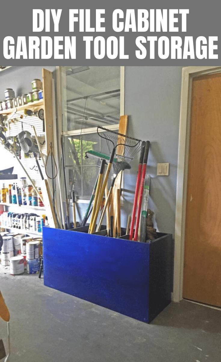 DIY FILE CABINET GARDEN TOOL STORAGE GARAGE ORGANIZATION HACKS