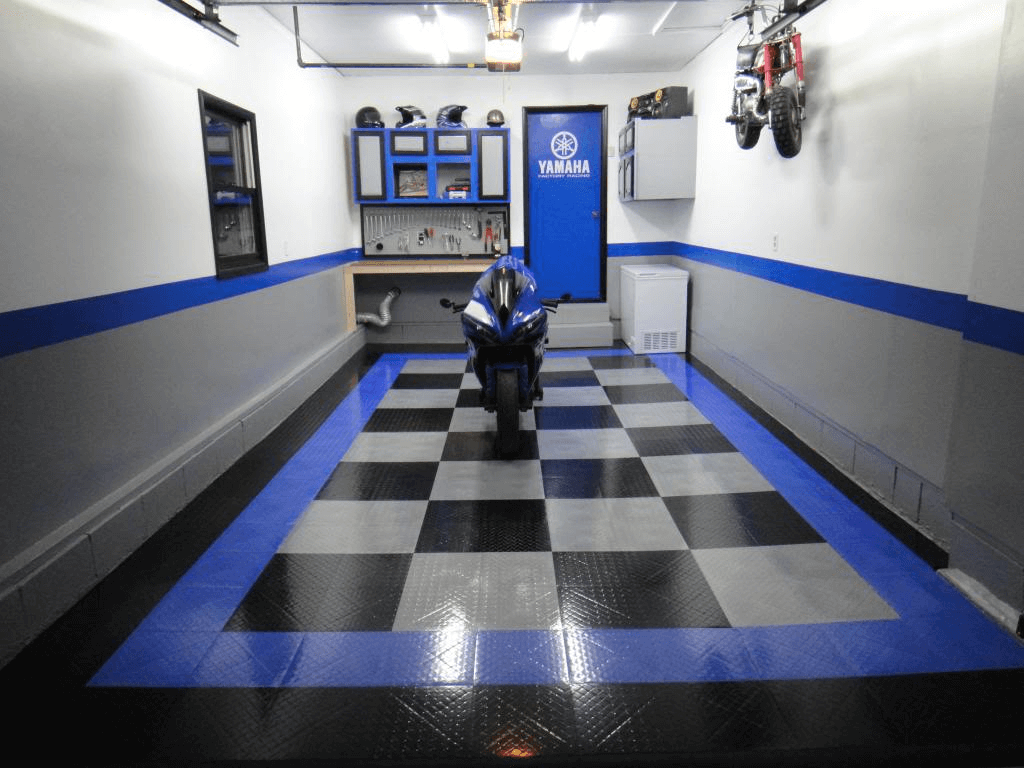 GARAGE FLOORING OPTION MAKEOVER IDEAS