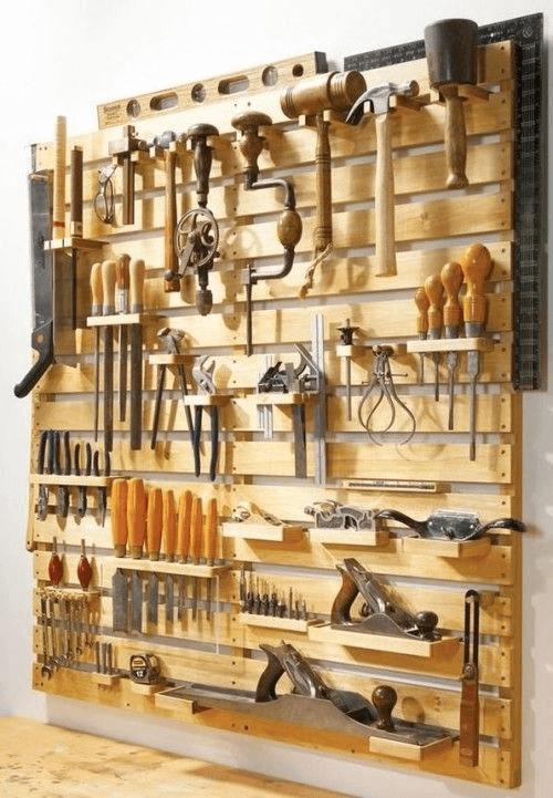 GARAGE MAKEOVER IDEAS WITH CRAFT DIY TOOL HOLDER