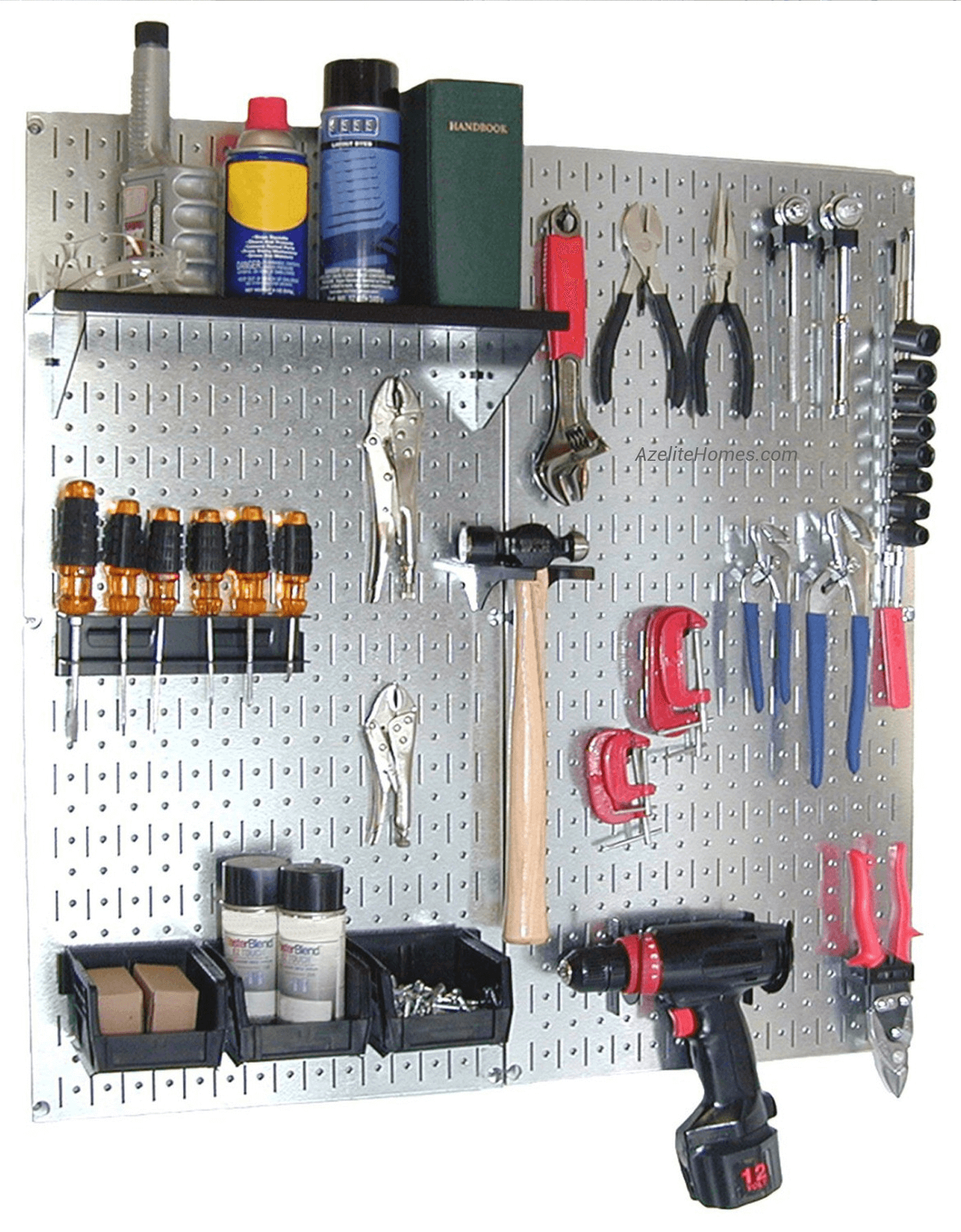 GARAGE MAKEOVER WITH ADDING MAGNETIC STORAGE PANELS