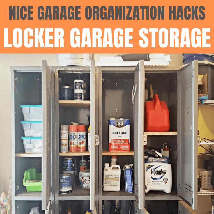 GARAGE ORGANIZATION HACKS LOCKER STORAGE