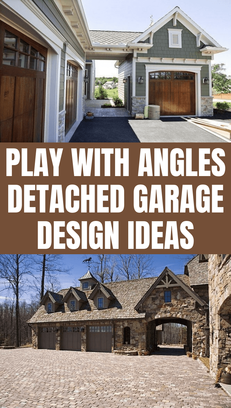 PLAY WITH ANGLES DETACHED GARAGE DESIGN IDEAS
