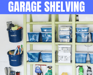 SMART ORGANIZATION HACKS GARAGE SHELVING