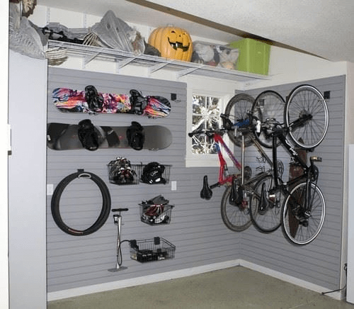 SPORTY HOOKS SMALL GARAGE APARTMENTS ORGANIZING PLANS
