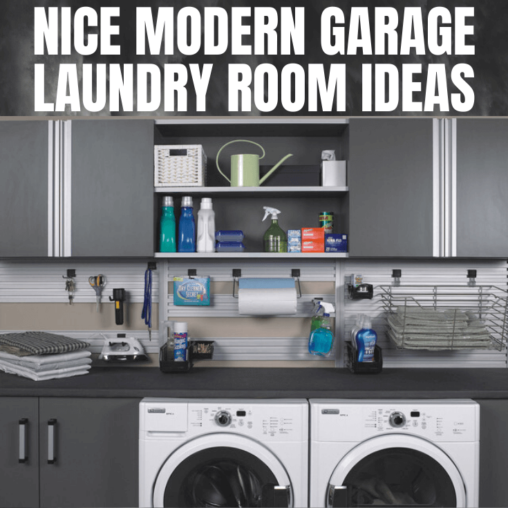 MODERN GARAGE LAUNDRY ROOM DESIGN IDEAS
