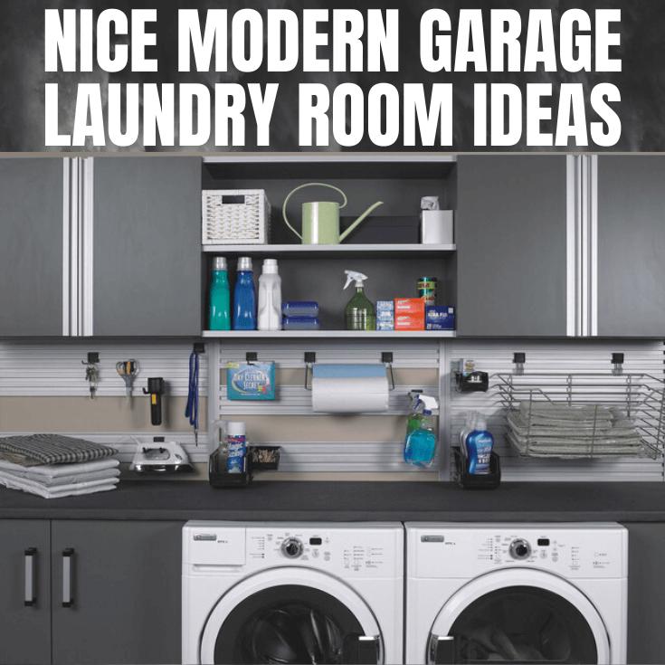 MODERN GARAGE LAUNDRY ROOM DESIGN IDEAS