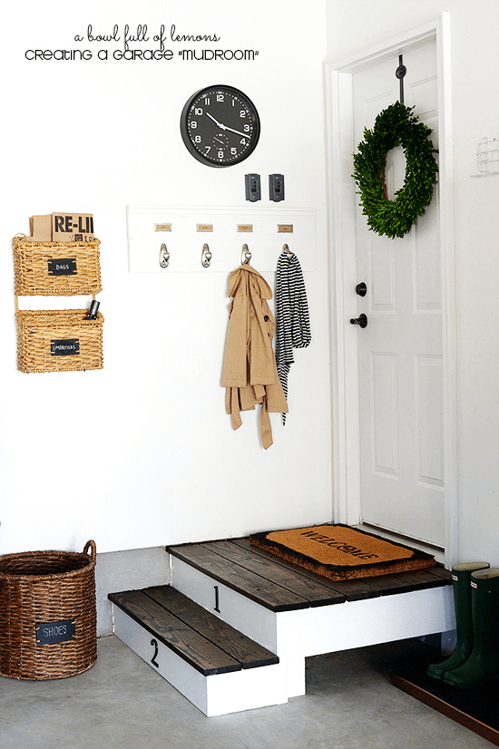 NICE MUDROOM GARAGE STORAGE IDEAS