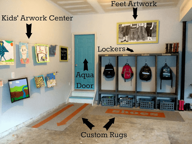 PERSONAL SPACE MUDROOM GARAGE STORAGE IDEAS
