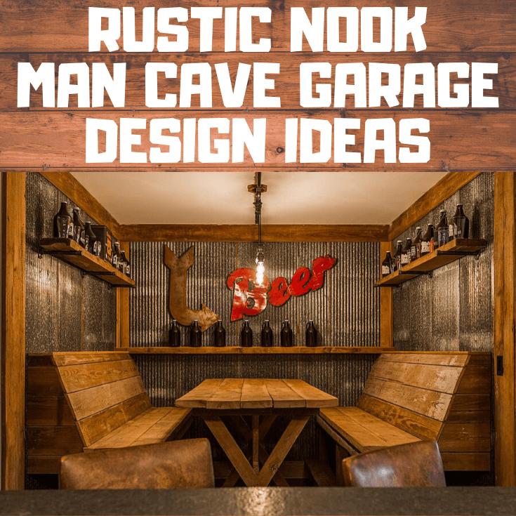 RUSTIC NOOK MAN CAVE GARAGE DESIGN IDEAS