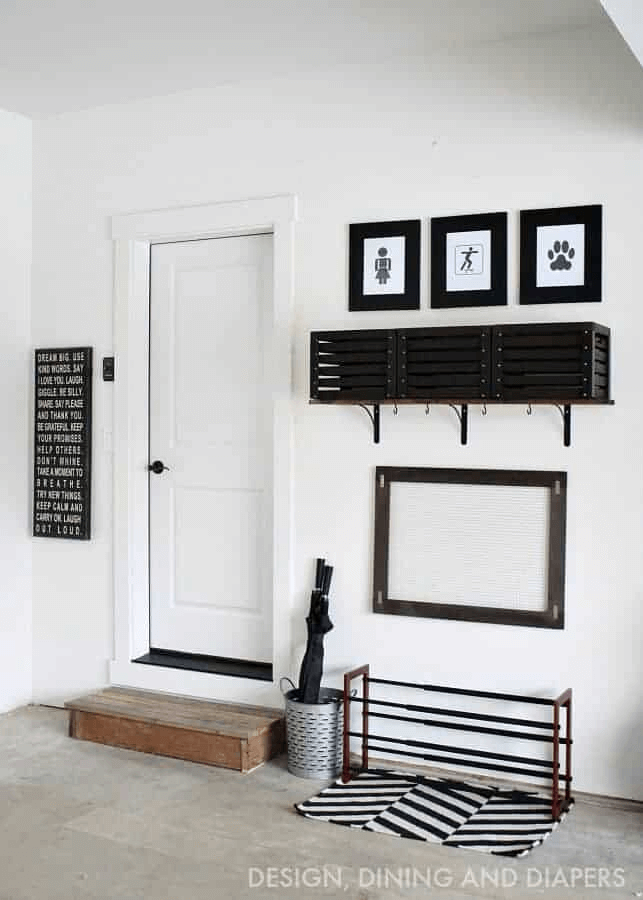 SIMPLE MUDROOM GARAGE STORAGE IDEAS