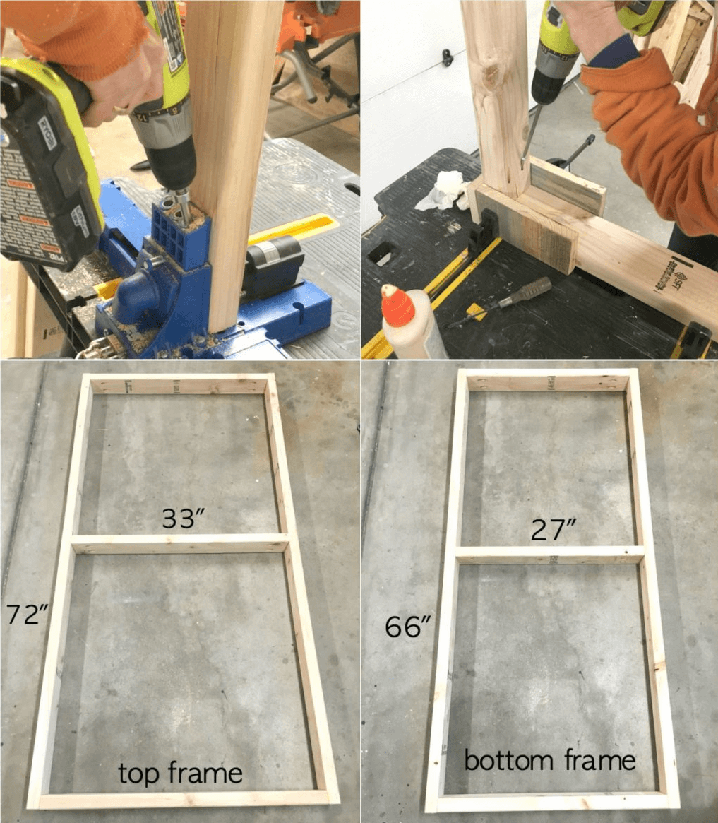 HOW TO BUILD A GARAGE WORKBENCH FRAMES