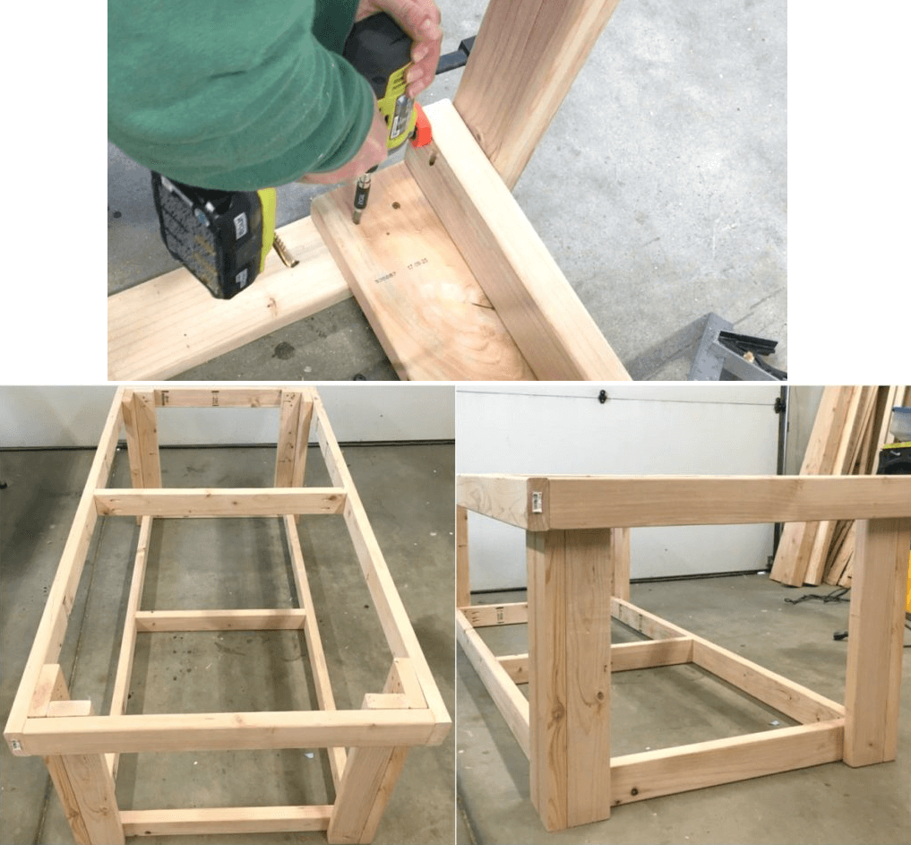 MAKE THE LEGS OF A GARAGE WORKBENCH