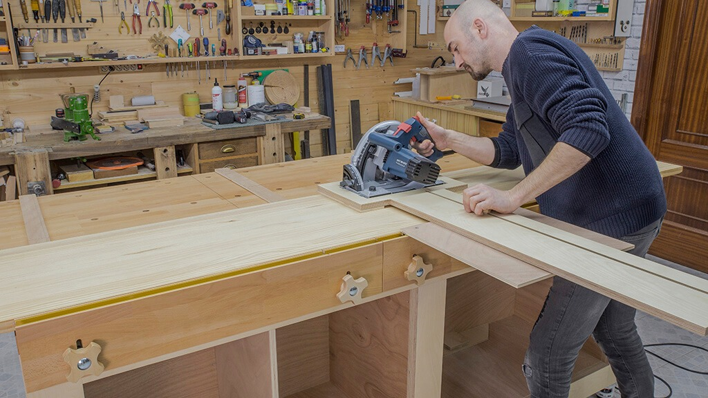 STEP BY STEP HOW TO BUILD A GARAGE WORKBENCH