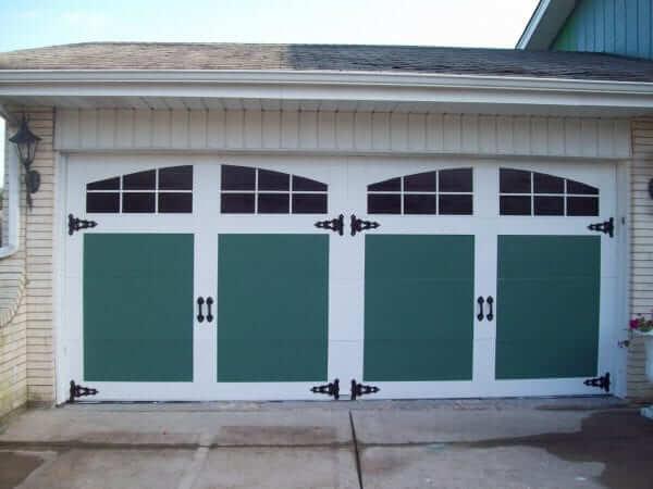 ADD DOOR HARDWARE TO MAKEOVER GARAGE DIY