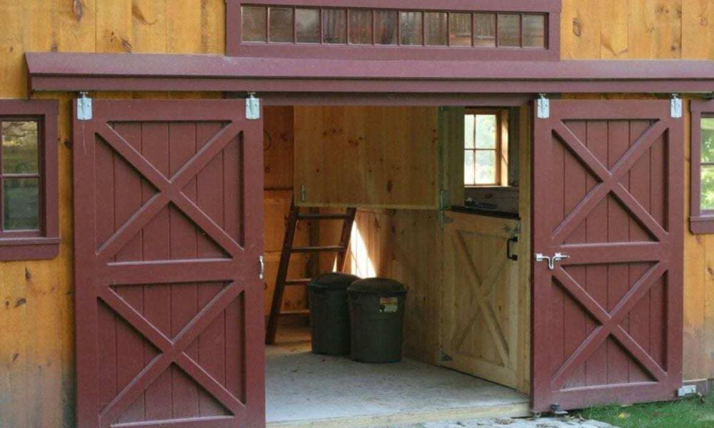 DIY MAKEOVER IDEAS BUILD SLIDING GARAGE DOOR