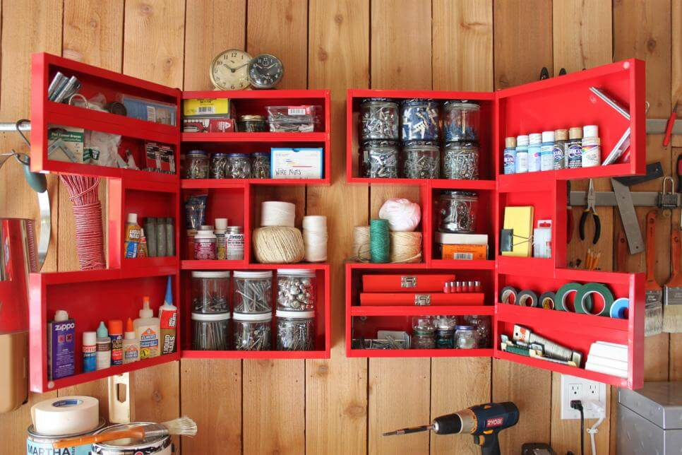 FOLDING CABINET GARAGE STORAGE DESIGN IDEAS