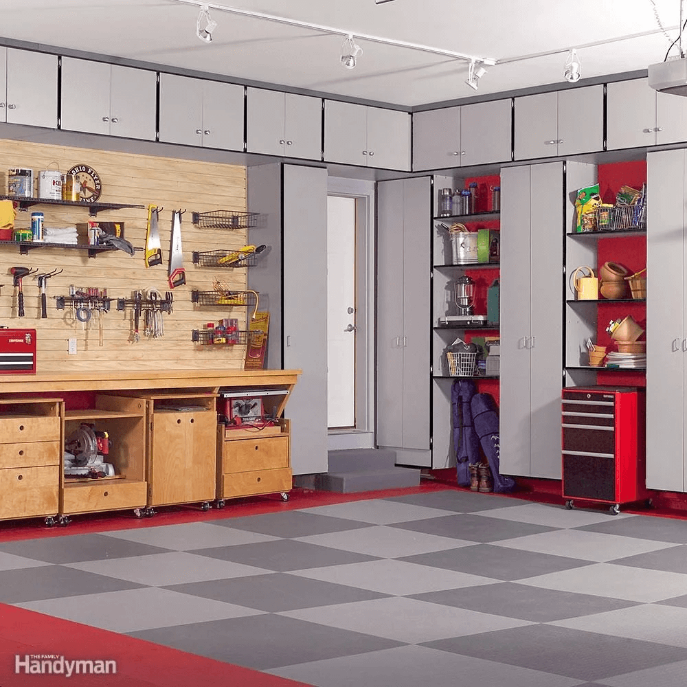 FULL CABINET AND SHELVING GARAGE STORAGE IDEAS