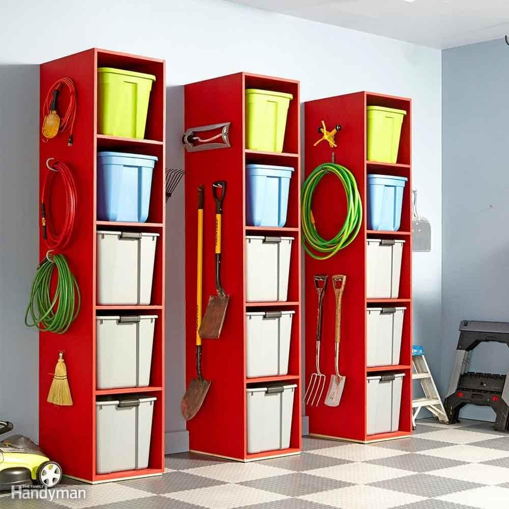 STACK OF BINS GARAGE STORAGE CABINET IDEAS