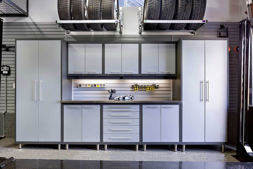 STEEL GARAGE STORAGE CABINET DESIGN IDEAS