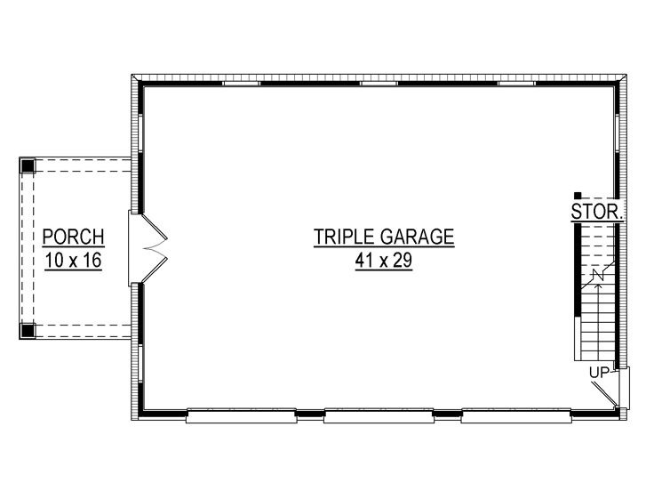 A GUEST QUARTER ON TOP OF A THREE CARS GARAGE DESIGN PLANS