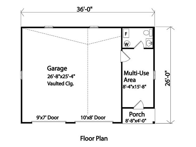 GARAGE FLOOR PLANS WITH PORCH AND MULTI USE AREA