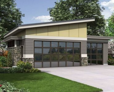 MODERN GARAGE DESIGN PLANS WITH A SHOP