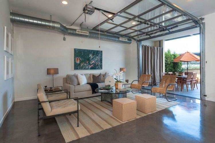 NEUTRAL HUES GARAGE MAKEOVER LIVING SPACES