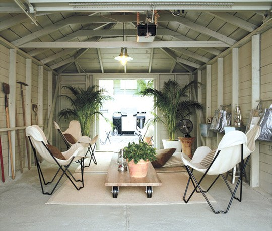 PORTABLE GARAGE MAKEOVER LIVING SPACES