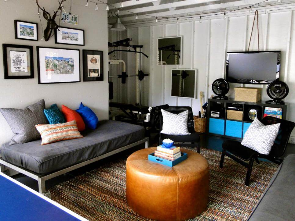 TEENS HANGOUT GARAGE MAKEOVER LIVING SPACES