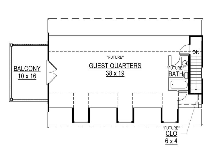 THE UPPER FLOOR A GUEST QUARTER ON TOP OF A GARAGE DESIGN PLANS