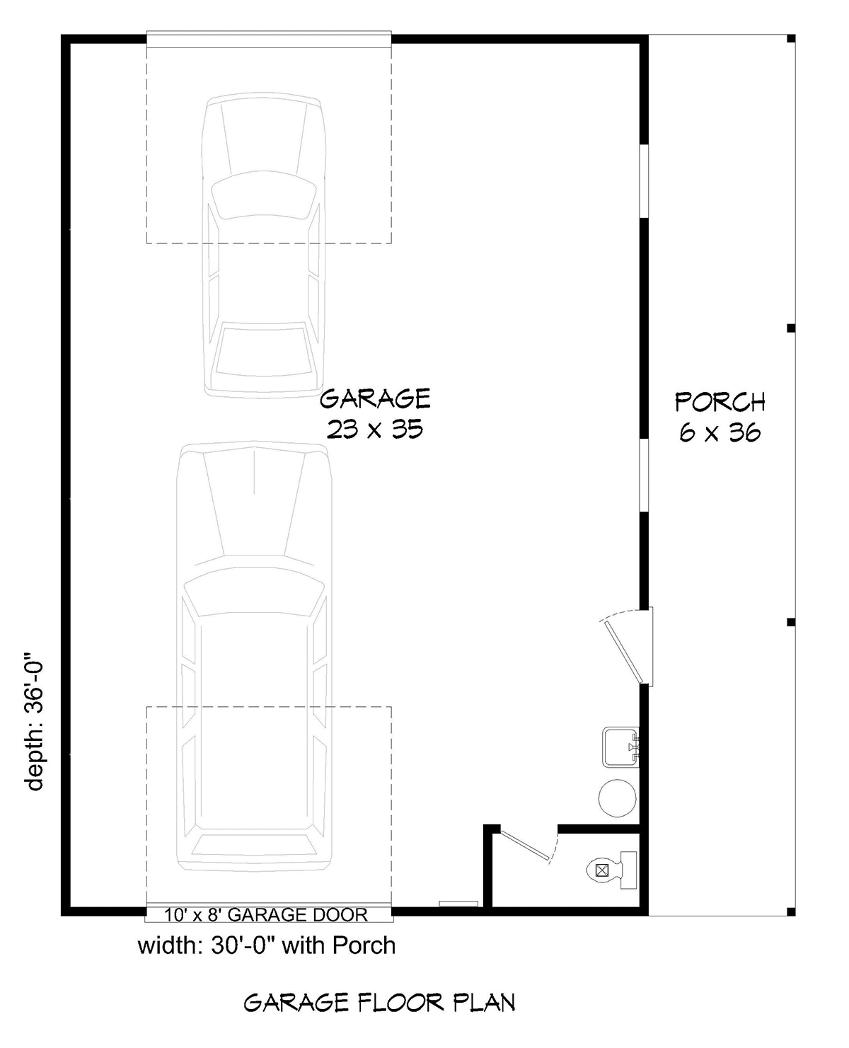 TWO SIDE ACCESSES GARAGE FLOOR PLANS