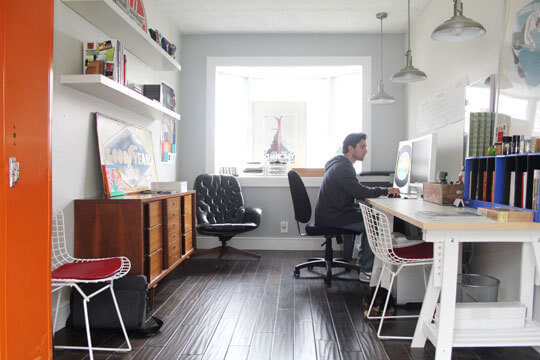 GARAGE MAKEOVER TO BASIC AND NEAT OFFICE