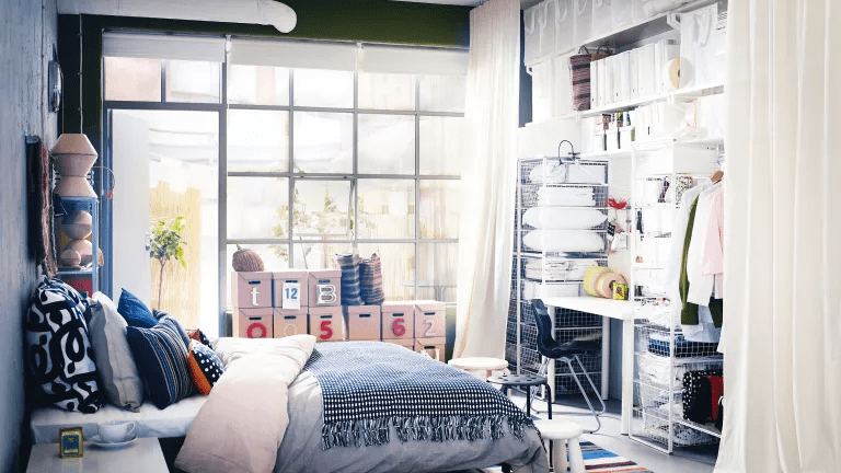 GARAGE MAKEOVER TO ECLECTIC SMALL BEDROOM IDEAS
