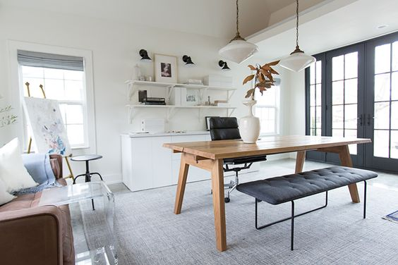 GARAGE MAKEOVER TO OFFICE AND ART STUDIO