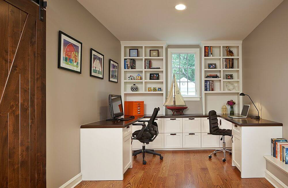GARAGE MAKEOVER TO OFFICE FOR TWO