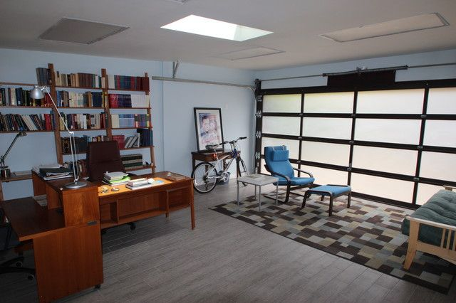 GARAGE MAKEOVER TO OFFICE WITH LIVING AREA