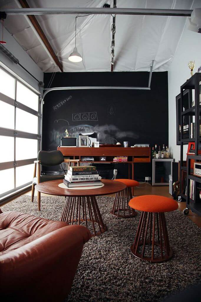 GARAGE MAKEOVER TO POSH AND STYLISH OFFICE