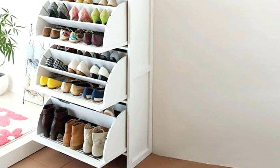 GARAGE SHOE ORGANIZATION IDEAS WITH PULL OUT SHOE STORAGE