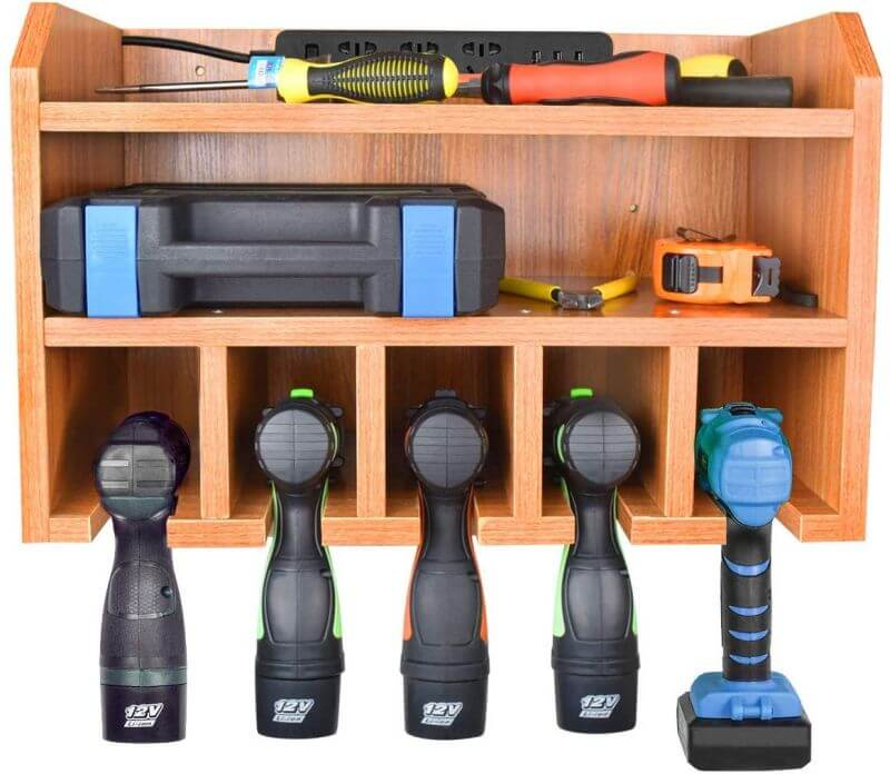 POWER TOOL CHARGING GARAGE STORAGE SYSTEMS