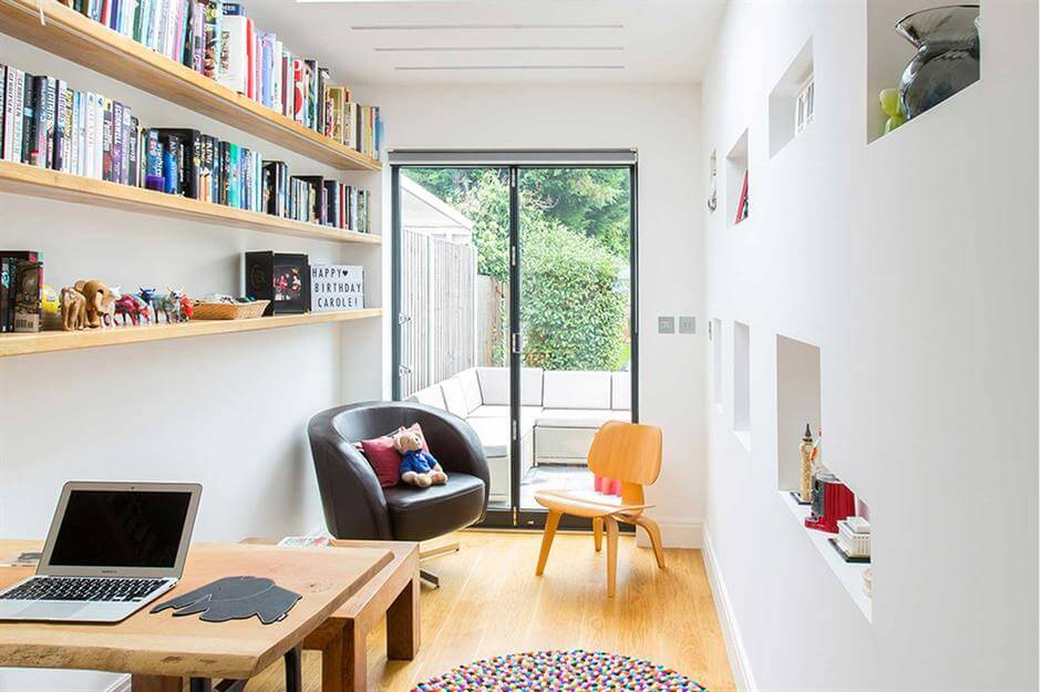 SMALL BUT SPACIOUS GARAGE MAKEOVER TO OFFICE DESIGN IDEAS