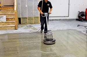 FLOOR BUFFER FOR GARAGE CLEANING