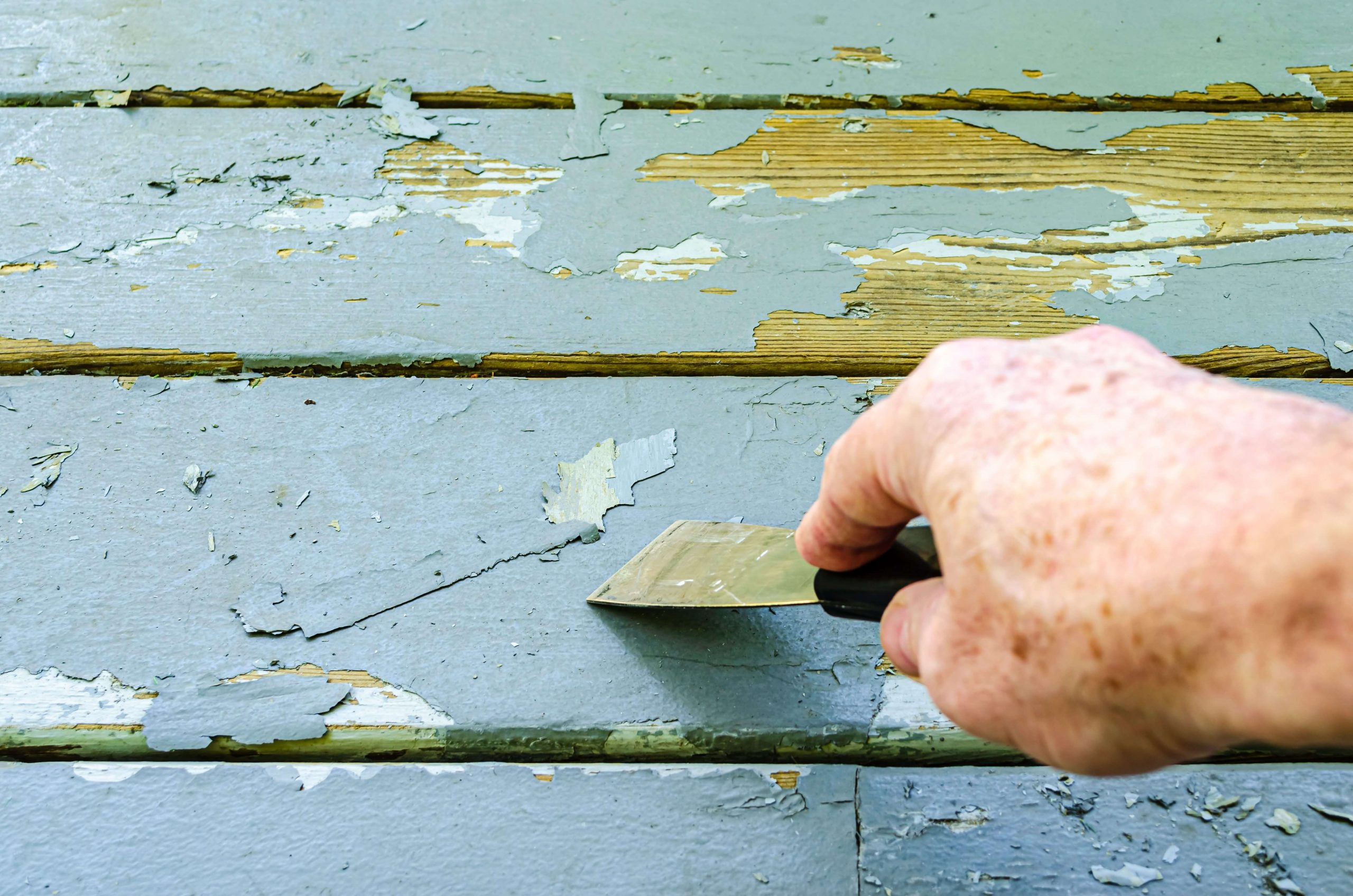 HOW TO PAINT A GARAGE DOOR - CLEAR THE SURFACE