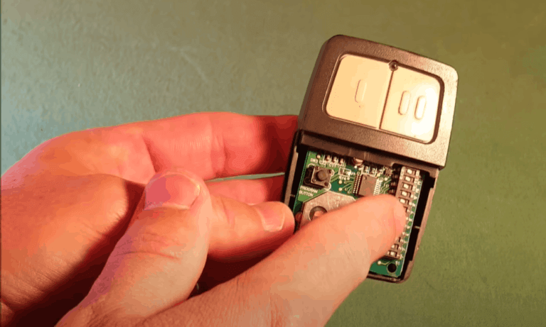 STEP 2 HOW TO CHANGE GARAGE DOOR CODE FOR ENTRIES WITHOUT KEYPAD - RECORD THE SWITCH POSITION